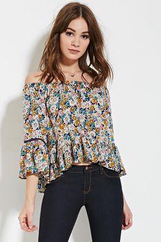 M/L Floral Off-the-Shoulder Top