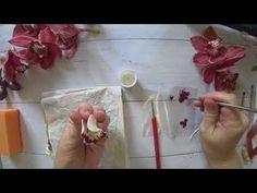 Clay Flowers, Ceramic Flowers, Sugar Flowers, Silk Flowers, Polymer Clay Mermaid, Flower Tutorial, Gum Paste, Handmade Flowers, Clay Art