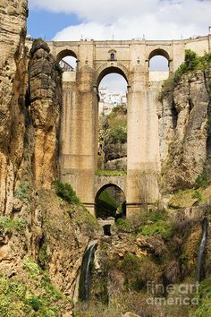 "Bridge in Ronda, Spain - not seen much of the interior of Spain and this is definitely on my ""list""..."
