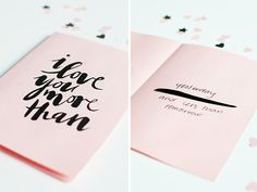 I love you more than...yesterday and less than tomorrow // Free printable card