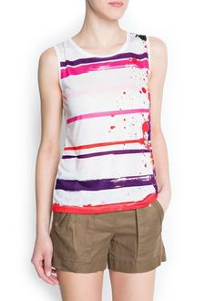 50 Under $50 Ways to Top Off Your Summer Wardrobe: Mango Paint-Striped T-Shirt #summer #style