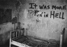 Abandoned asylum. I know that this should creep me out, but it really doesn't. My dark side loves this beyond reason.