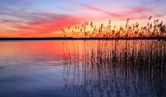 Sunset over Sedona Lake, Pearland, TX