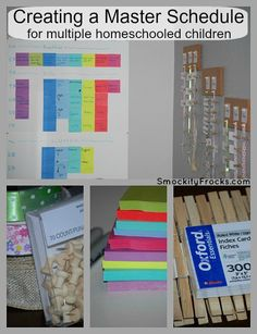 Master Homeschool Schedule and Clothespin Checklist