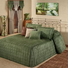 Double Bed Sheets, Camden, Bed Covers, Bohemian Decor, Bed Spreads, Decoration, Room Interior, Sage, Interior Decorating