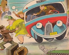 my vintage book collection (in blog form).:  The Magic Bus (A Wonder Book) by Maurice Dolbier, illustrated by Tibor Gergely (1948).