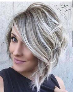 grau mittellang haare