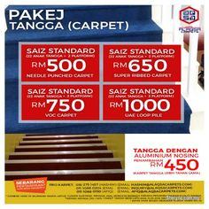 Other for sale, in Klang, Selangor, Malaysia. Staircase Carpet For Stairs Decor With Pay Less Either going up or down our staircase carpets will Carpet Stairs, Carpet Flooring, Artificial Grass Carpet, Office Carpet, Commercial Carpet Tiles, Growing Grass, Ad Home, Benefit, Carpets