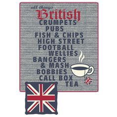 All things British throw - Fair Indigo Best Of British, British Things, British Style, British Terms, The Tremeloes, Wales, Yorkshire, British Invasion, London Calling