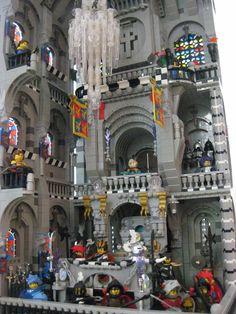 LEGO castle interior - this is SUPER cool!!
