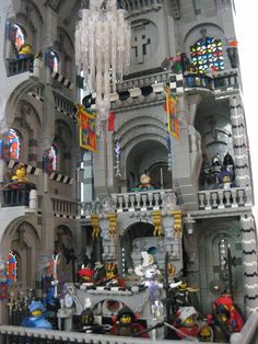 LEGO castle interior - this is SUPER cool!!