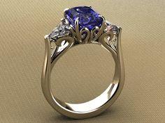 4ct. Sapphire and diamond ring