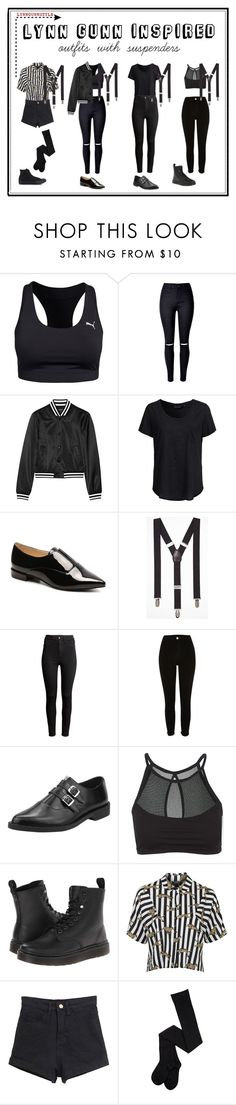 """""""Lynn Gunn"""" by halfmoonkelly ❤ liked on Polyvore featuring Puma, WithChic, R13, New Look, Nine West, Express, H&M, River Island, T.U.K. and Onzie"""