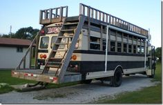 images of school buss campers | School bus with roof deck 3