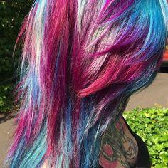 Cosmic Hair  #hairdresser #hairfashion #hairstyle #hairgoals #hairofinstagram #amazing #hairdye #haircolor #magic #beautiful #inlove #hairoftheday #hairsalon #hairlife #colors #galaxy #goals #northernireland #lisburn #cosmichair