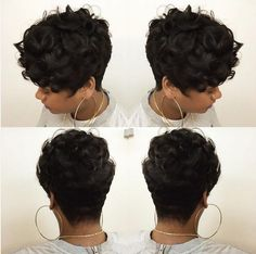 7 All Time Best Ideas: Casual Braided Hairstyles women hairstyles curly pixie cuts.Women Hairstyles With Bangs women hairstyles color colour. Curly Pixie Haircuts, Short Curly Pixie, Short Hair With Bangs, Pixie Hairstyles, Hairstyles With Bangs, Short Hair Cuts, Feathered Hairstyles, Wedding Hairstyles, Pixie Cuts