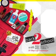 I just entered CurlyNikki Back to School Giveaway to win some amazing curly hair prizes on CurlyNikki.com! You should enter too. It's easy, click here: http://www.naturallycurly.com/giveaways/CurlyNikki-August-2015-Giveaway/st/55c5344f4e79b5.07849649