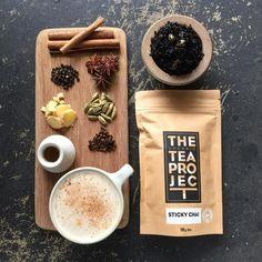 Inspo for RealChai shoot - board or dish - spices - cup and saucer - honey - honey stick - milk - cinnamon - black tea Best Loose Leaf Tea, Organic Loose Leaf Tea, Tea Packing Design, Best Tea Brands, Honey Sticks, Cinnamon Tea, Morning Drinks, Tea Packaging, Milk Tea