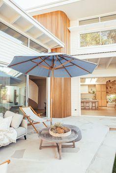 Backyard Reveal - Kyal & Kara : Kyal & Kara Kyal And Kara, Timber Cladding, Timber House, Backyard, Patio, Coastal Homes, Building Design, My Dream Home, Exterior Design