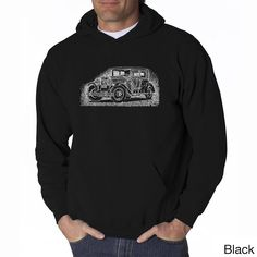 LA Pop Art Men's Mob Car Hooded Sweatshirt