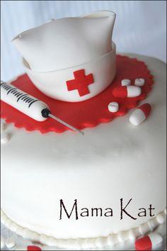 Nurse Cake, for when I graduate nursing school Fancy Cakes, Cute Cakes, Beautiful Cakes, Amazing Cakes, Cake Cookies, Cupcake Cakes, Dessert Oreo, Dessert Healthy, Foto Pastel