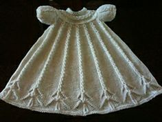 ***Nancy's pattern on ravelry Cabled Yoke Christening Gown pattern