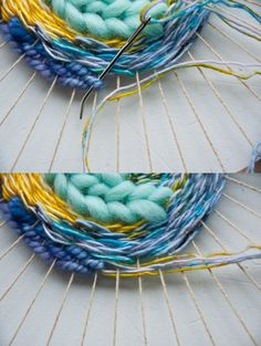 Changing Thread in a Circle Weave | The Weaving Loom