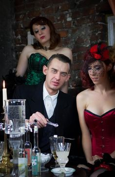 """Our Burlesque friends in Poland did a great work with our """"Grüne Fee"""" Absinthe Collection. Burlesque, Poland, One Shoulder, Formal Dresses, Friends, Collection, Fashion, Formal Gowns, Moda"""