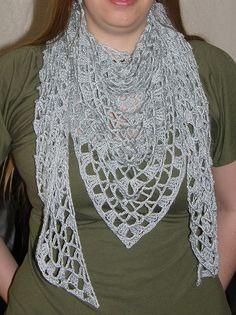 Iris Crocheted Shawl by ChickenBetty