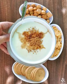 A mouthwatering bowl of #Sahlab for dessert! By @polsamuel #WeAreLebanon  #Lebanon