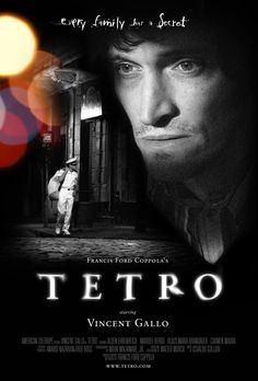 Tetro is a 2009 drama film written and directed by Francis Ford Coppola and starring Vincent Gallo, Alden Ehrenreich and Maribel Verdú Vincent Gallo, Films Cinema, Cinema Posters, Movie Posters, O Drama, Drama Film, Movies About Writers, Francis Ford Coppola, Dvd