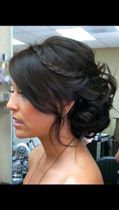 Wedding hair minus the braid