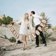 Should you elope to avoid the stress of a large and expensive wedding day? Maybe it's the right thing for you! Photo via Rad + In Love.