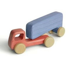 Wooden Toy wooden truck by emanuelrufoToys on Etsy Wooden Projects, Wooden Crafts, Diy Projects, Wooden Toy Trucks, Wooden Car, Making Wooden Toys, Wood Scraps, Diy Holz, Wood Toys