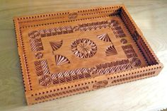Carved wooden serving or storage tray (Made and carved by Dave Melnychuk)