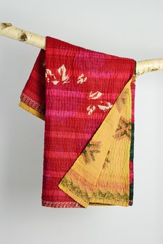 Kantha quilt by Parul | Basha is a social enterprise that helps victims of sex trafficking in Bangladesh leave the streets and build a new life making kantha quilts from recycled saris. As beautiful products emerge from discarded cloth, broken lives are made whole again, stitch by stitch.