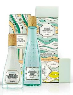Apothecary Beauty Branding - Antique Bottles Inspire Packaging for Benefit Cosmetics b.right! Line (GALLERY)