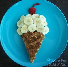 Cute Fun Food idea! Ice Cream Cone Breakfast idea by @Jill Mills {Kitchen Fun With My 3 Sons}