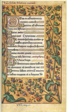 Leaf from the Hours of Anne of Brittany. The book was illustrated by Jean Bourdichon, one of the most talented illuminators in France during the late fifteenth and early sixteenth century.