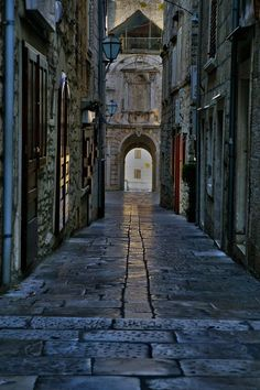 There is a story right there...(Korcula-Korcula Island-Croatia    Streets of Korcula 1 by CitizenFresh)