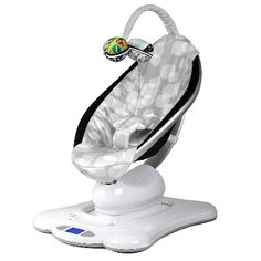 mamaRoo Infant Seat - Silver Plush: Parents don't vibrate like bouncy seats or swing like swings. They bounce and sway, and that's what the mamaRoo Plush Infant Seat by 4moms does. It moves like you do.