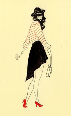 ericka lugo's fashion illustrations are rad