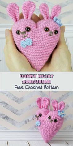 Bunny Heart Amigurumi [Free Crochet Pattern]