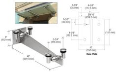"CRL Brushed Stainless 48"" Universal Wall Mounted Glass Awning Bracket by CR Laurence by C.R. Laurence. $978.99. Used on Flat or Curved Top Segmented Glass Awnings These Universal Wall Mount Glass Awning Brackets have really become popular, not just for their looks, but also their versatility. Each Bracket has four glass attachments that require one 3/4 inch (19 millimeter) hole in the glass per attachment. They are designed to be used with 9/16 inch (14 millimeter) thic..."