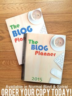 The Blog Planner 2015 - WOW! This blog planner is going to keep me organized and on top of things this year! I got the spiral version <3