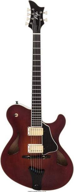 Woody Phifer Sunburst Archtop Electric Guitar --- https://www.pinterest.com/lardyfatboy/
