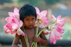 Boy with Flowers - India