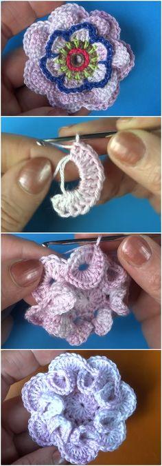 Crochet Beautiful Flower Free Pattern [Video]