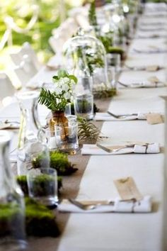 ferns and moss never get old...greenery for natural table setting by colette
