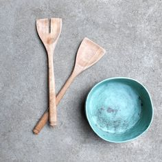 hand-carved birch servers - made in melbourne from reclaimed timber / $38  hand-sculpted stoneware bowl / $42